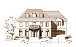 Traditional Style Home Design Plan: 19-760