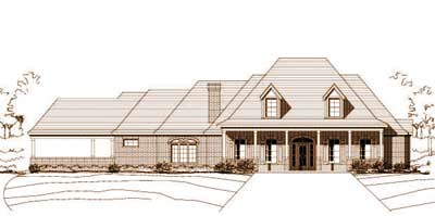 Country Style Home Design Plan: 19-765