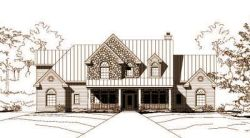 Country Style Home Design Plan: 19-766