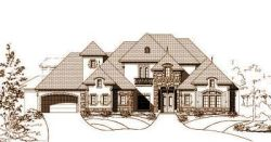 French-Country Style House Plans Plan: 19-784