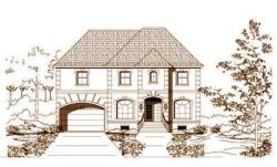 Traditional Style Home Design Plan: 19-796