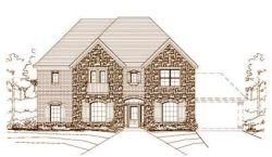 French-Country Style Home Design Plan: 19-809