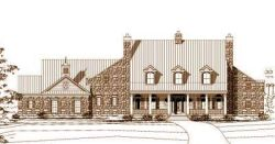 Country Style Home Design Plan: 19-811
