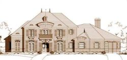 European Style Home Design Plan: 19-812