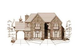 French-Country Style Home Design Plan: 19-823