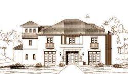 Mediterranean Style Home Design Plan: 19-853