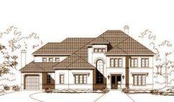 Mediterranean Style Home Design Plan: 19-879
