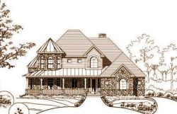 Victorian Style Home Design Plan: 19-889