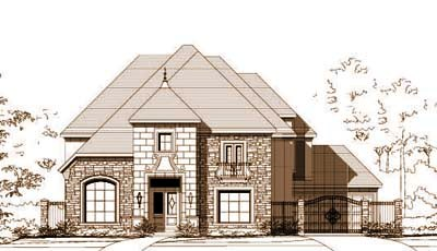French-Country Style House Plans Plan: 19-900