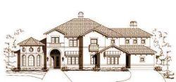 Mediterranean Style Home Design Plan: 19-914