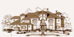 Mediterranean Style Home Design 19-940
