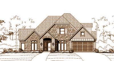 French-country Style Home Design Plan: 19-959