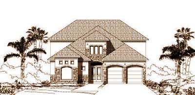 European Style House Plans Plan: 19-960