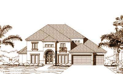 Mediterranean Style House Plans Plan: 19-961