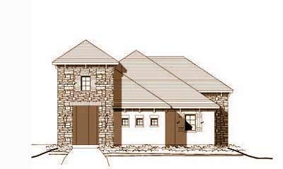 European Style Home Design Plan: 19-981