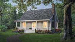 Country Style Home Design Plan: 2-109