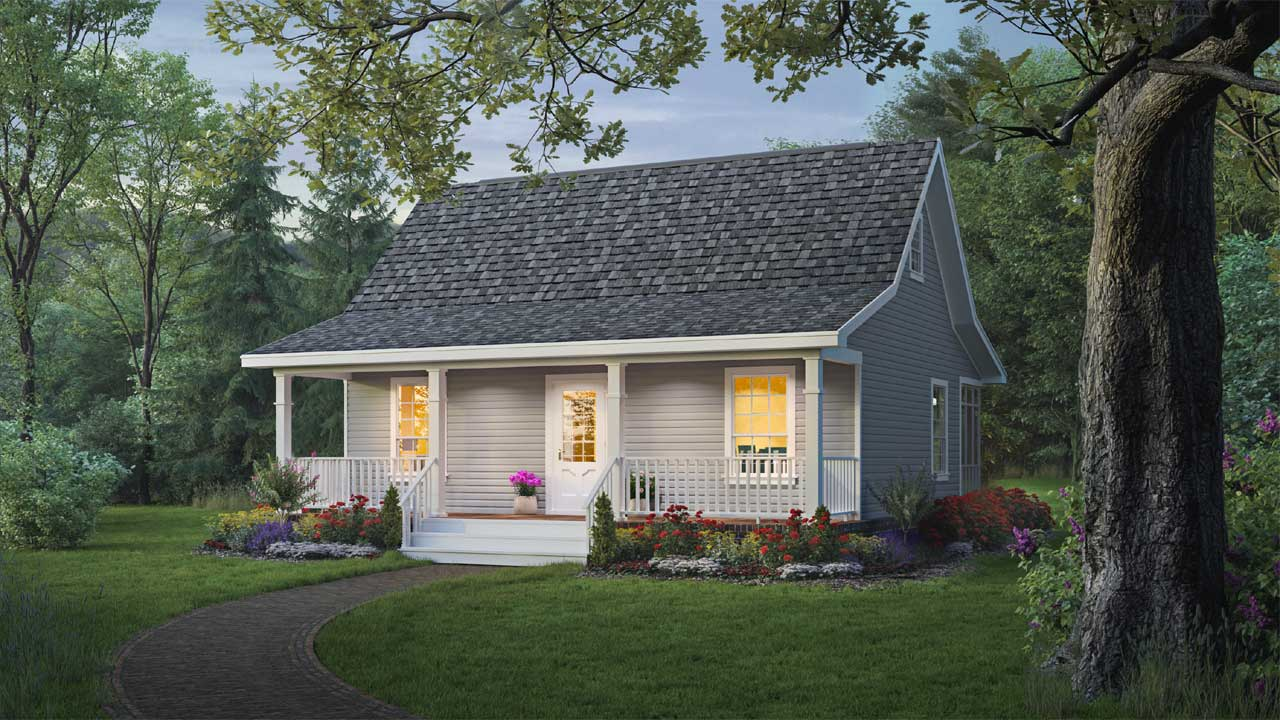 Country Style Home Design Plan: 2-111