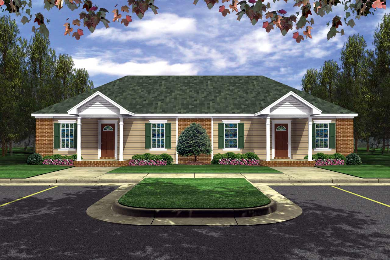 Southern Style House Plans Plan: 2-112