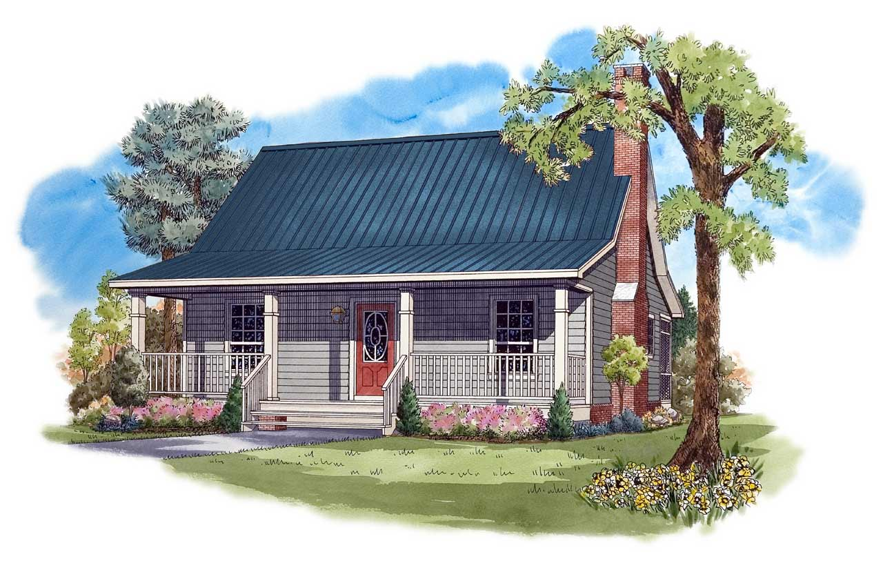 Cottage Style House Plans Plan: 2-113
