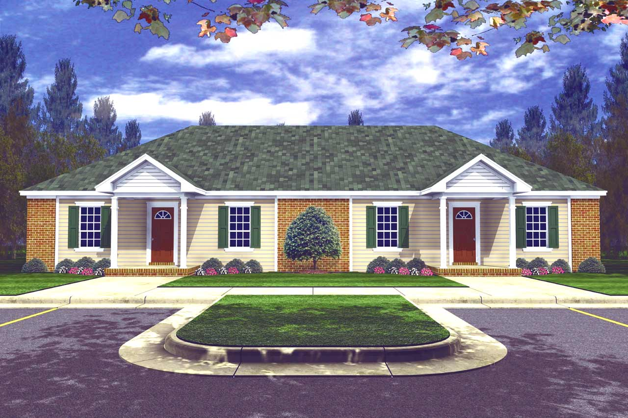 Traditional Style Home Design Plan: 2-114