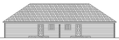 Rear Elevation Plan: 2-114