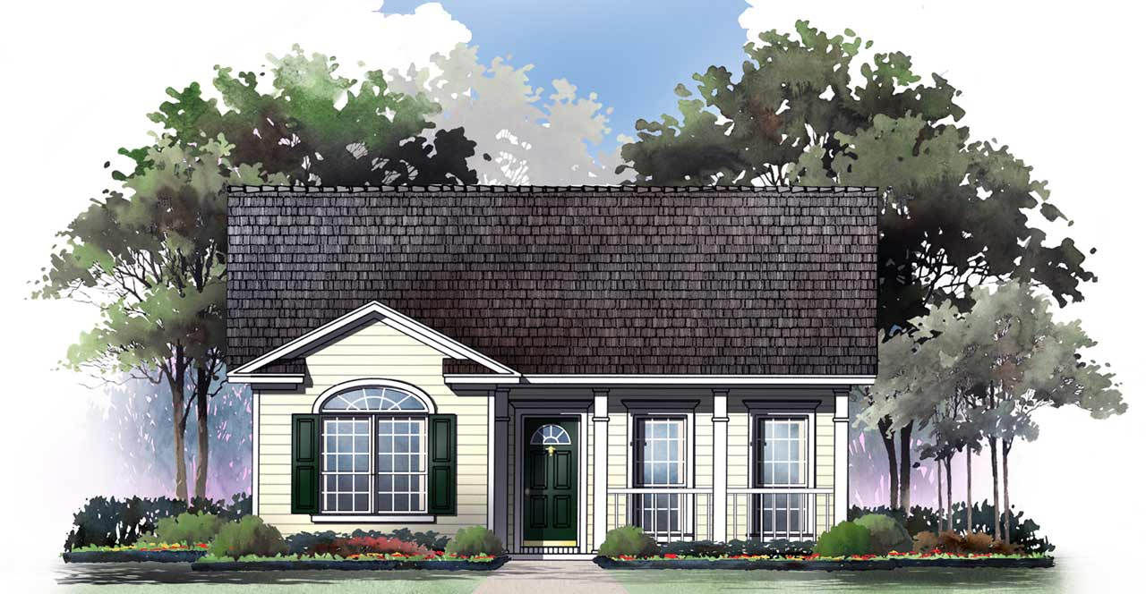 Traditional Style House Plans Plan: 2-115
