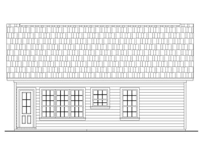 Rear Elevation Plan: 2-115