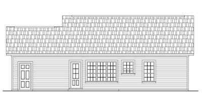 Rear Elevation Plan: 2-116