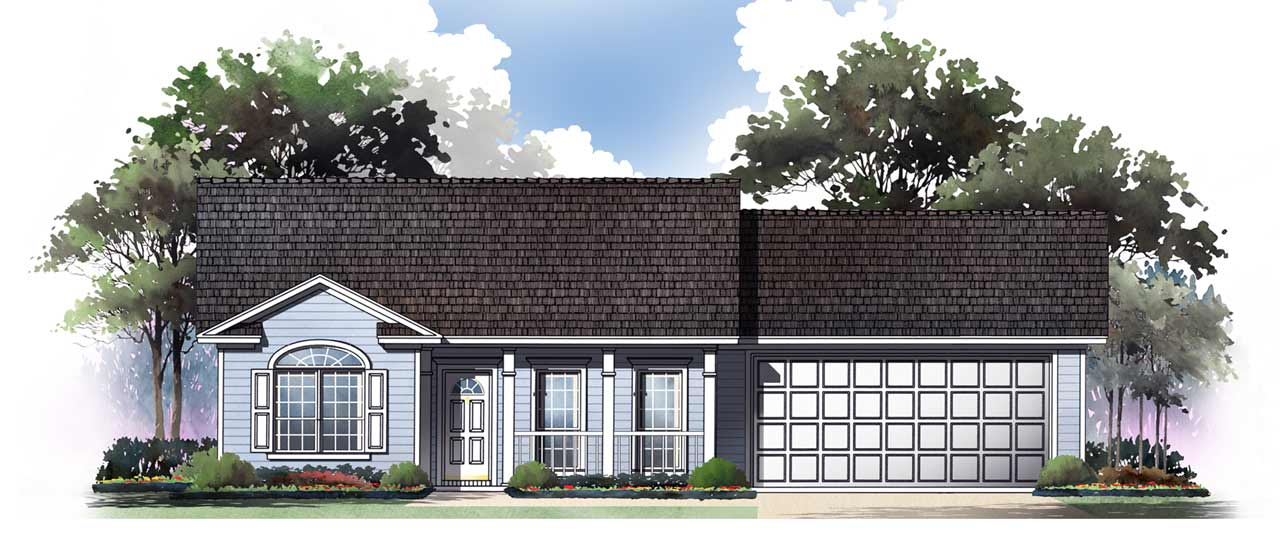 Traditional Style House Plans Plan: 2-117