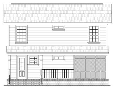 Rear Elevation Plan: 2-120