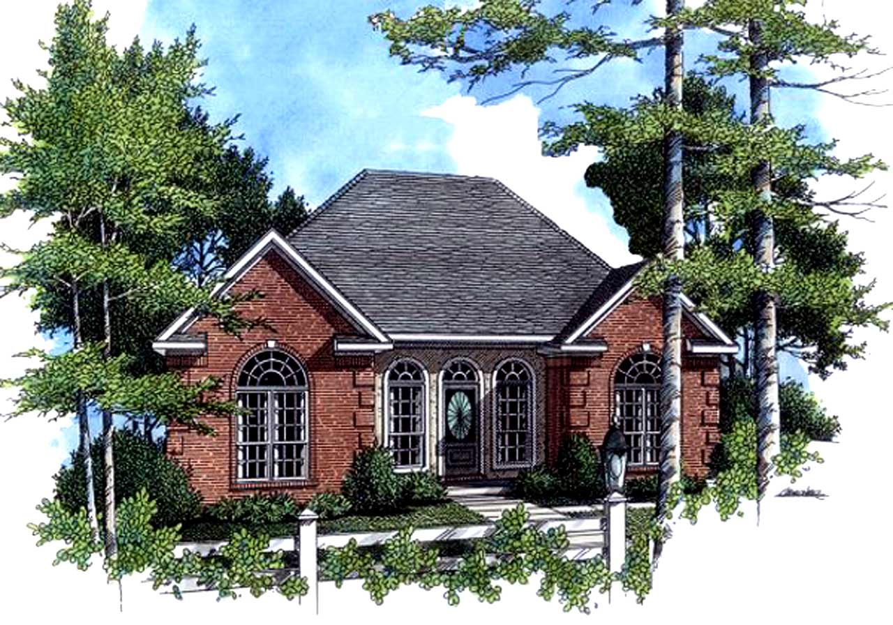 Traditional Style Home Design Plan: 2-122