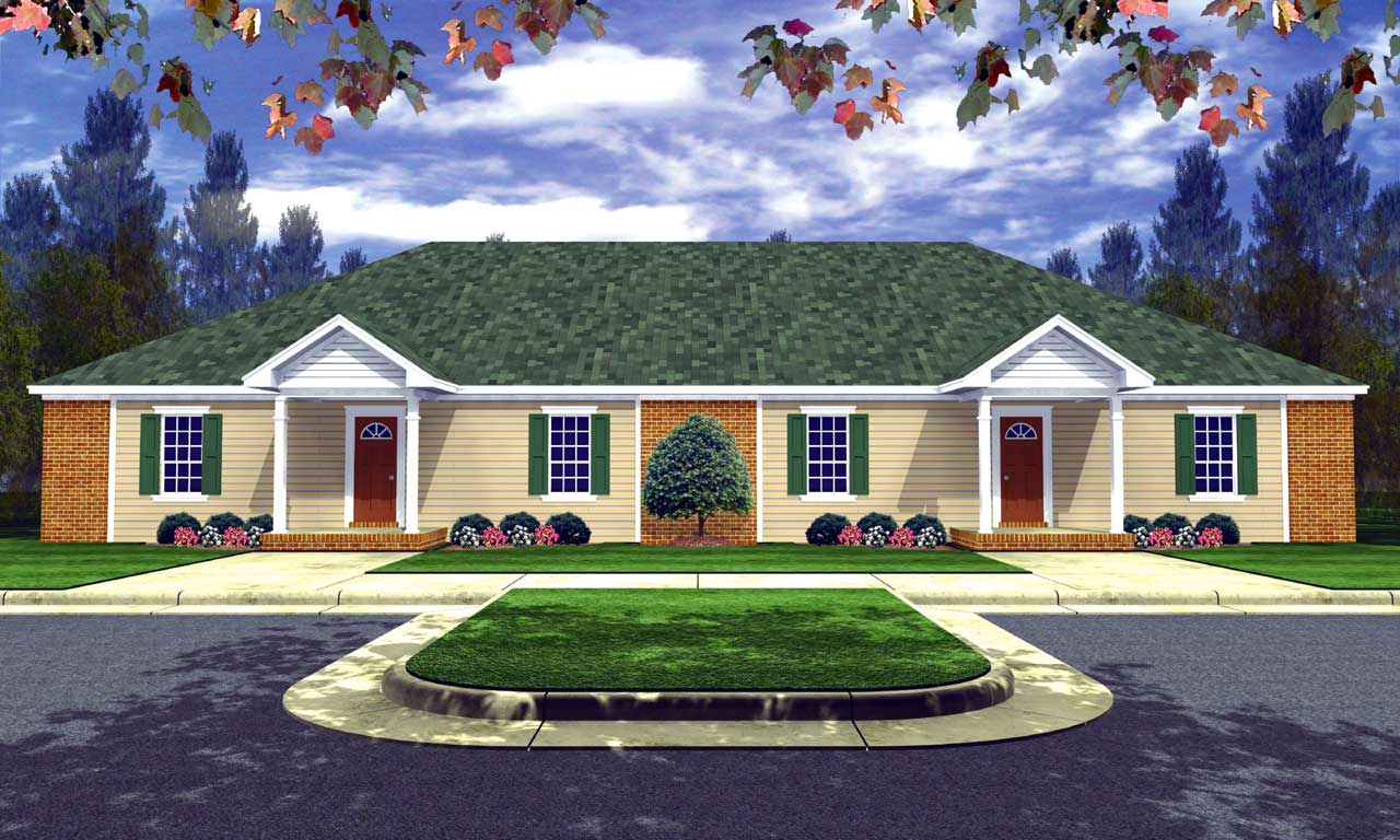 Traditional Style House Plans Plan: 2-123
