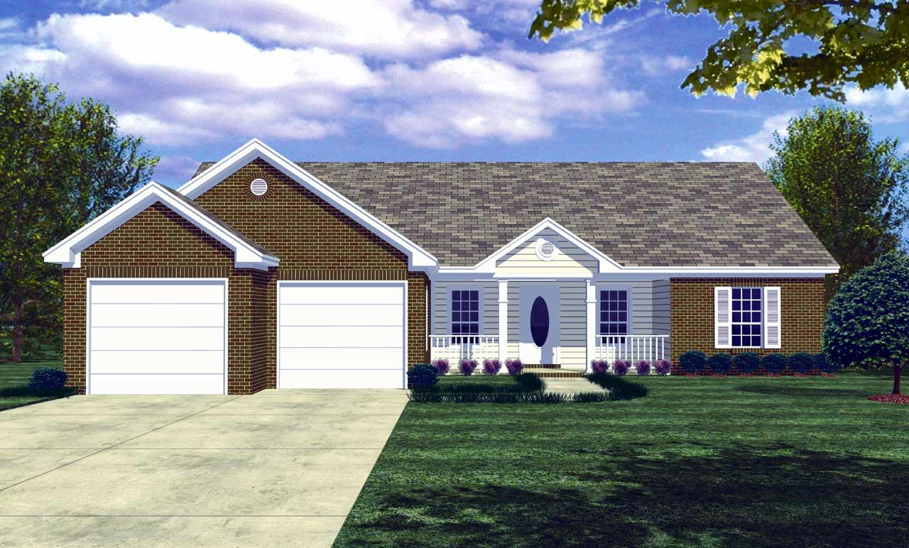 Ranch Style House Plans Plan: 2-125