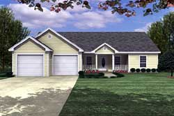 Ranch Style Home Design Plan: 2-125