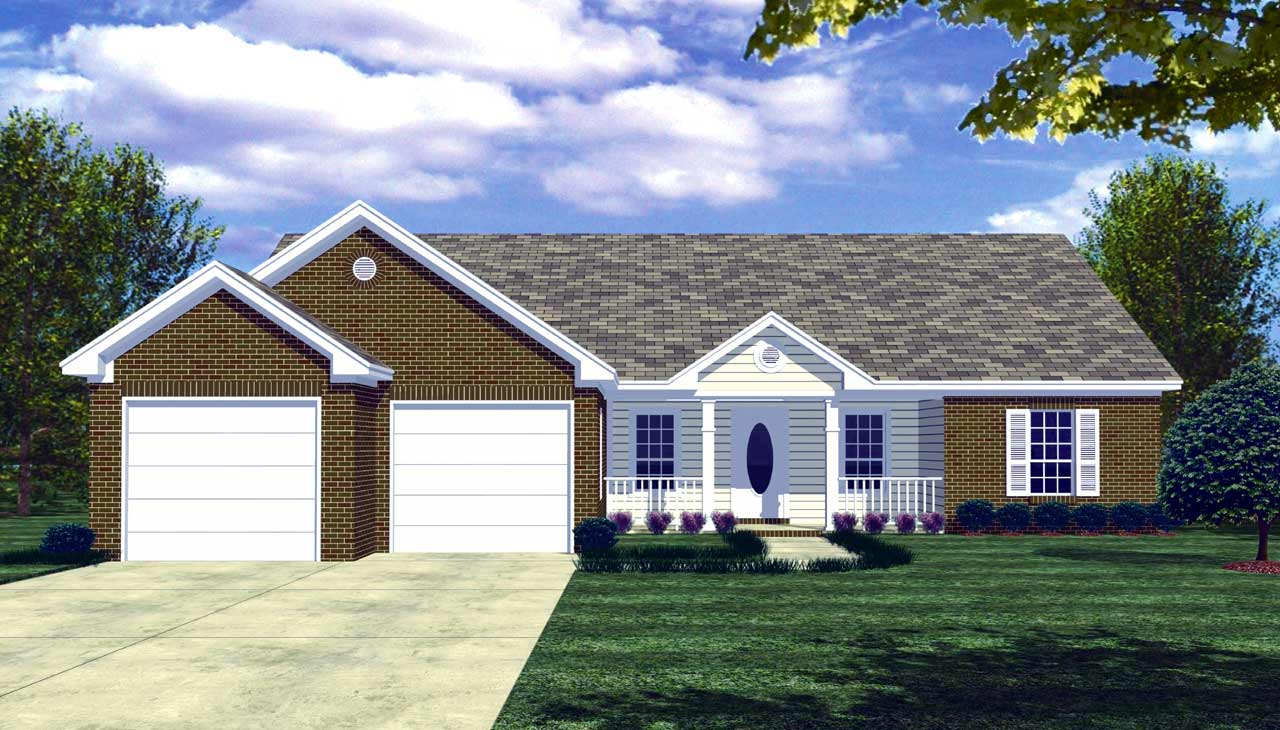 Ranch Style House Plans Plan: 2-127