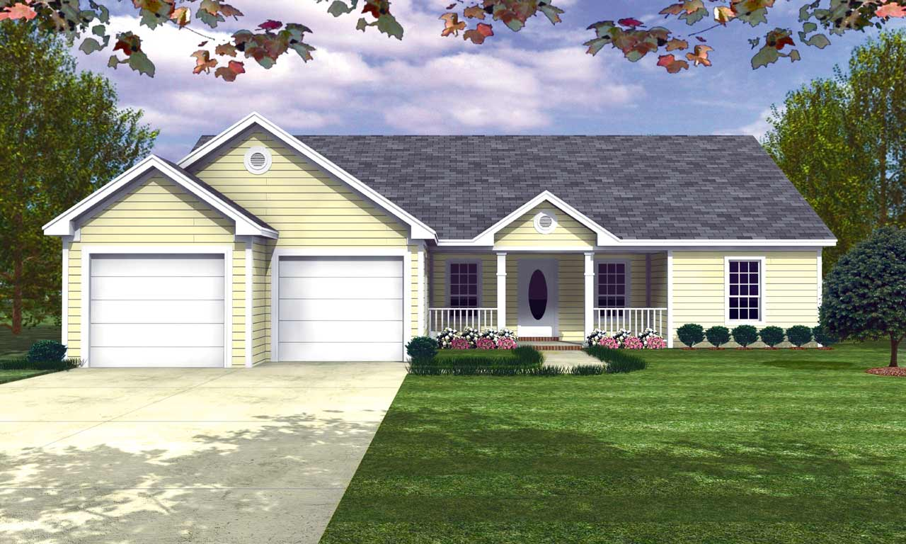 Ranch Style House Plans Plan: 2-128
