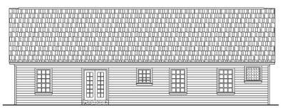 Rear Elevation Plan: 2-128