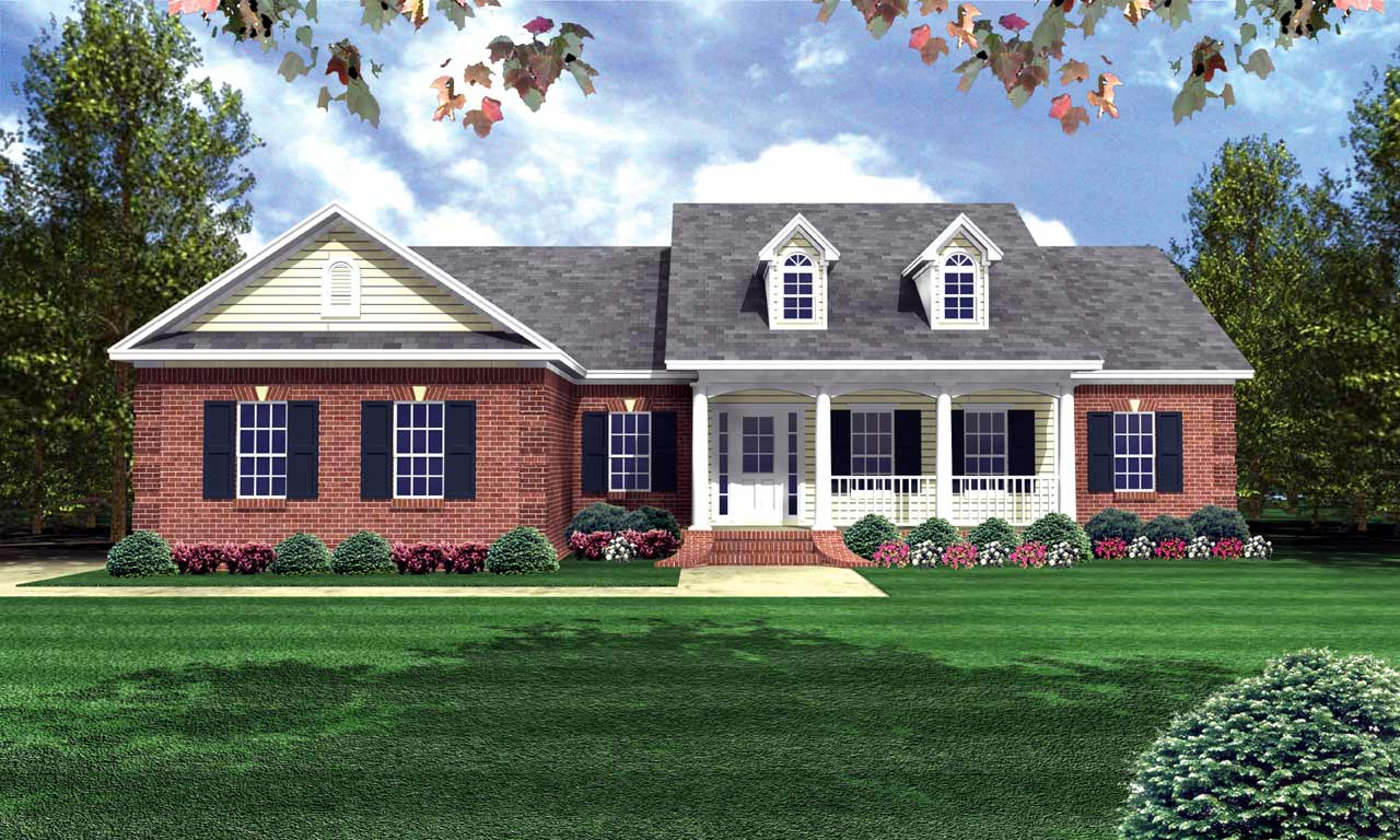 Southern Style Floor Plans Plan: 2-130
