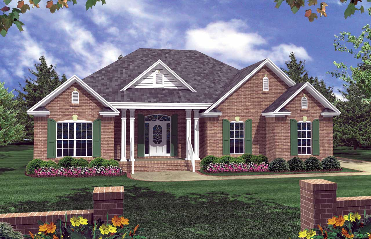 Southern Style Floor Plans Plan: 2-134