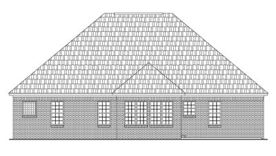 Rear Elevation Plan: 2-134