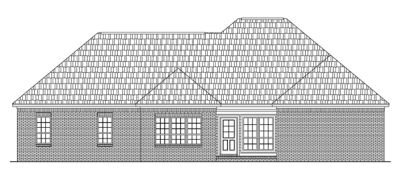 Rear Elevation Plan: 2-136