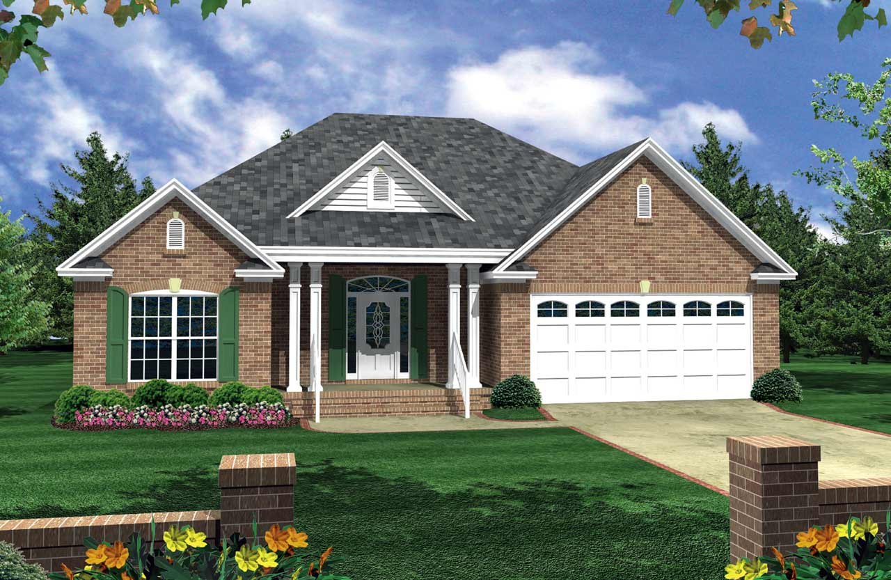 Traditional Style Home Design Plan: 2-137