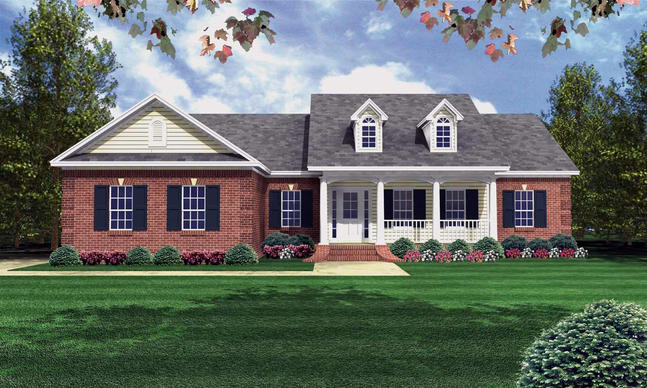 Southern Style House Plans Plan: 2-138