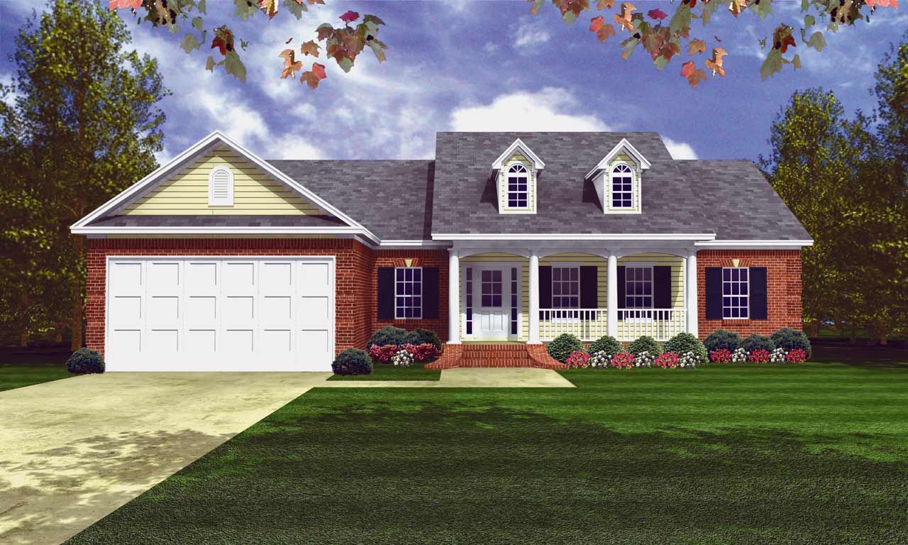 Southern Style Home Design Plan: 2-139