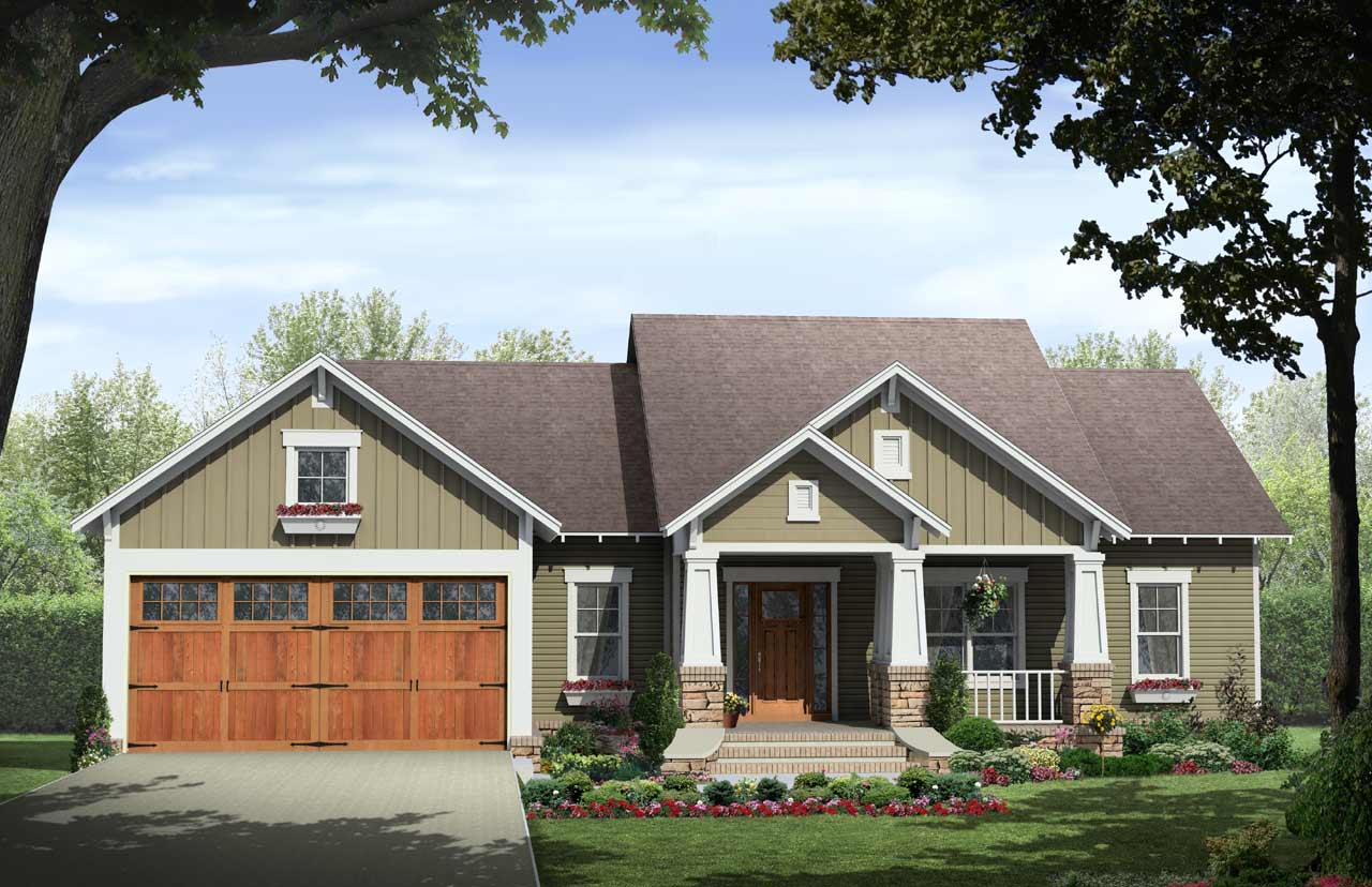 Craftsman Style Home Design Plan: 2-140