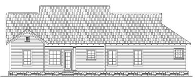 Rear Elevation Plan: 2-140