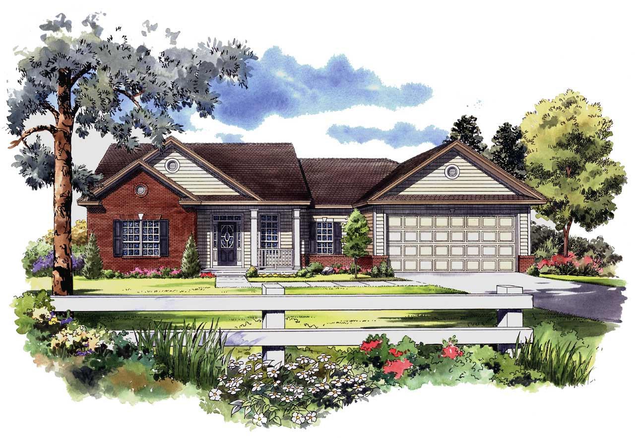 Country Style Floor Plans Plan: 2-142