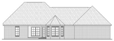 Rear Elevation Plan: 2-143