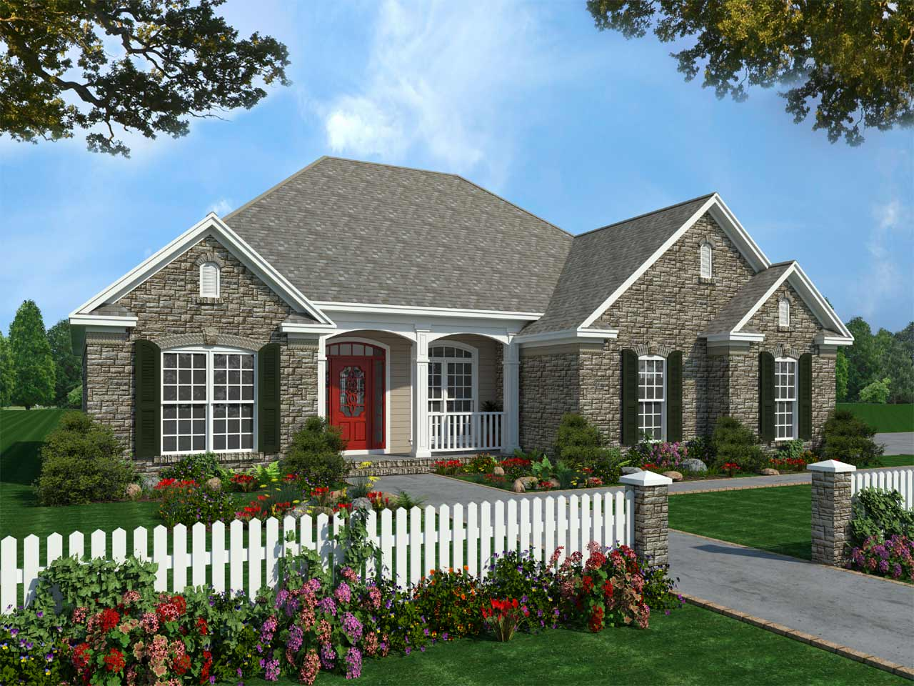 Traditional Style House Plans Plan: 2-144
