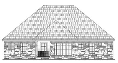 Rear Elevation Plan: 2-144